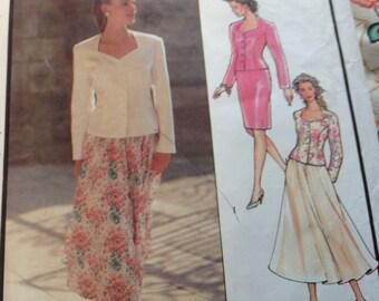 Vintage Style Pattern 1865,  Jacket Pattern, Skirt Pattern, Sizes 6 to 18 Pattern,  Uncut Patttern
