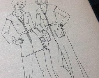 Vintage Butterick Pattern 3173, Jumpsuit Pattern, 70's Pattern, Knit only Pattern, Size 10 Pattern, Uncut Pattern