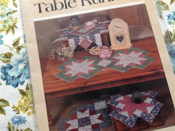 Patchwork Quilt Pattern Quilted Table Runner Pattern Quilted Etsy