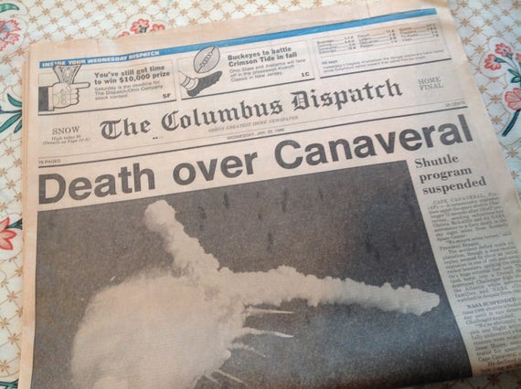 space shuttle challenger newspaper article - photo #16