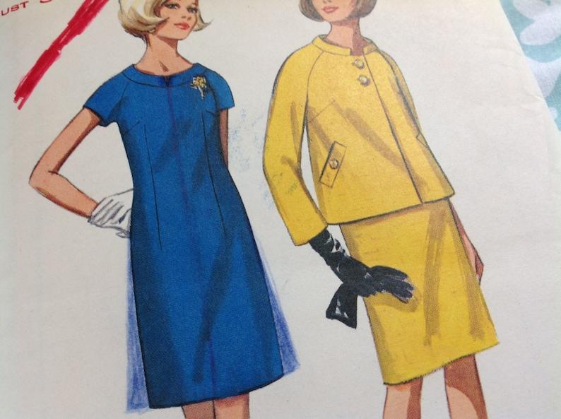 Butterick Pattern 4391, Vintage 60's Butterick Pattern, Jackie Dress  Pattern, Dress and Jacket Pattern, Size 16 Basic Dress Pattern