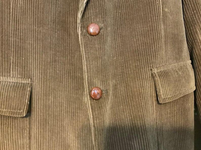 Early 80\u2019s Vintage Mans Jacket Made in Poland Jacket Barrister for Walkers Dark Brown Corduroy Jacket Men\u2019s Corduroy Sport Jacket
