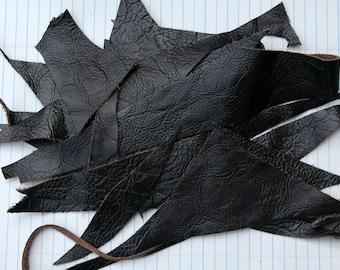 Dark Chocolate Leather Scraps