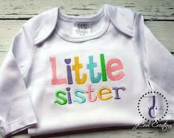 Little Sister Shirt - Little Sister Dress, Baby Bodysuit, Little Sister Gown, Little Sister Outfit, Little Sister Big, Sibling Shirts, Girl