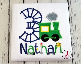 Train Birthday Shirt - Boys Birthday Shirt, Train Shirt, 1st Birthday Outfit, Train Party, Birthday Shirt For Boys, Train Party, Toddler