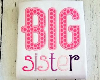 Big Sister Shirt - Big Sister Gift, Big Sister Dress, Big Sister Announcement, Sibling Outfits, Pregnancy Announcement, Big Sister Little