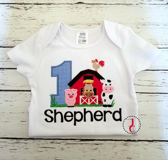 Farm Birthday Shirt Animals Barnyard