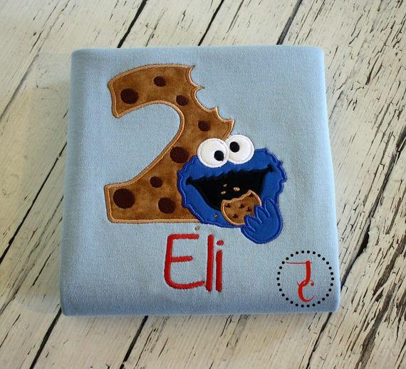 Cookie Monster Birthday Shirt Cookie Monster Birthday