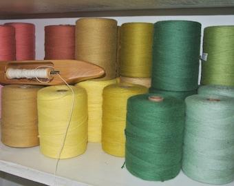 8/4 - 100% Cotton -  rug, carpet warp thread, twine, yarn 8 oz tube - weaving 41 colors available