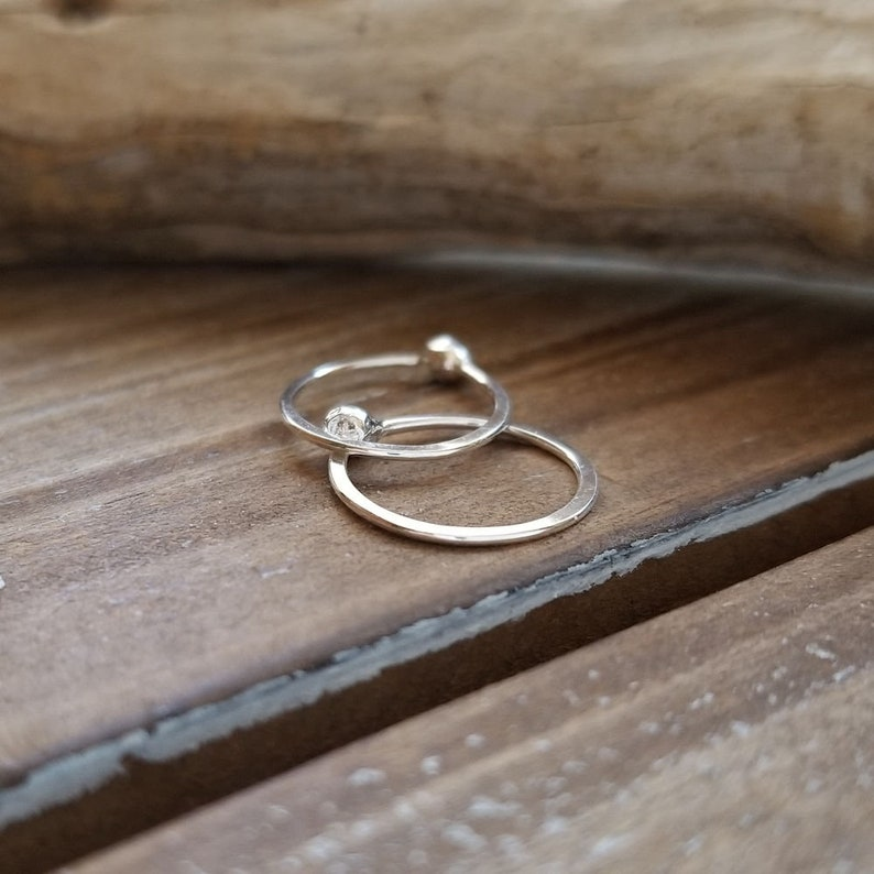 Oxidized Sterling Silver Earrings Ball Stud Posts Simple Open Hoops Gunmetal or Antiqued Distressed Minimalist Artisan Rustic Hoops
