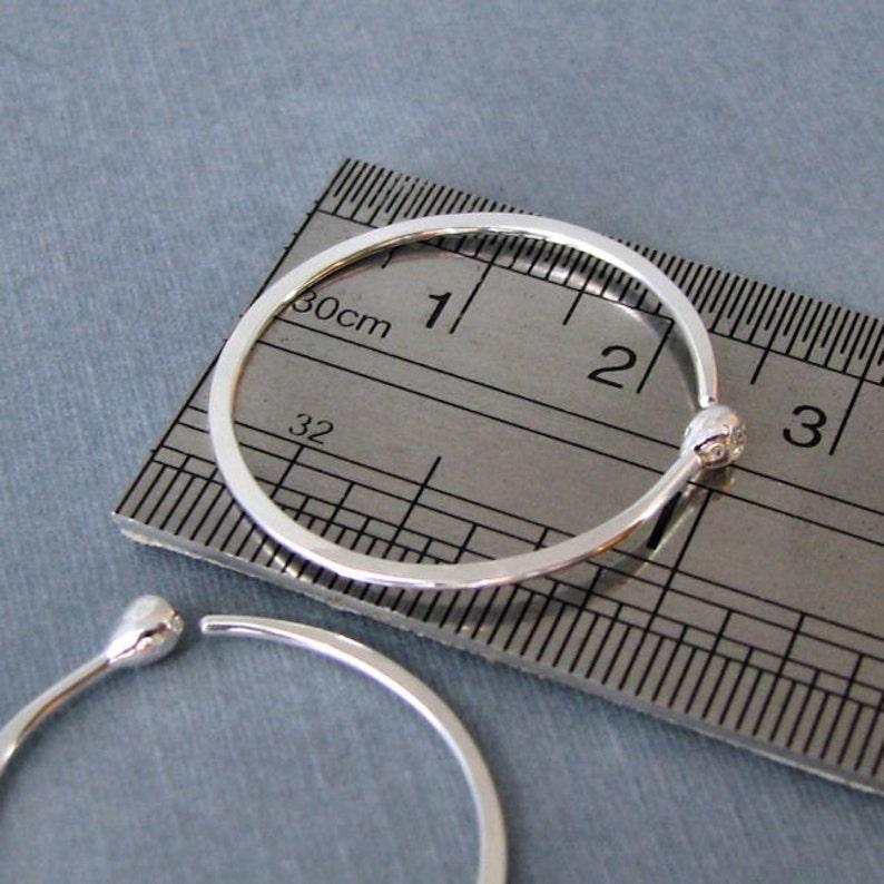 1 inch Hoops Modern Everyday Earrings Large Hoops Simple Boho Artisan Jewelry Sterling Silver Sleepers 18 gauge Earrings Hammered