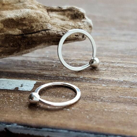 Fine Silver Hoops 20 Gauge Earrings Cartilage Helix Etsy