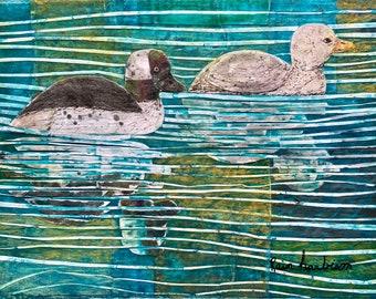 Watercolor painting Buffleheads