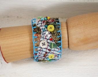Bracelet Wrist Cuff, eco friendly - upcycled