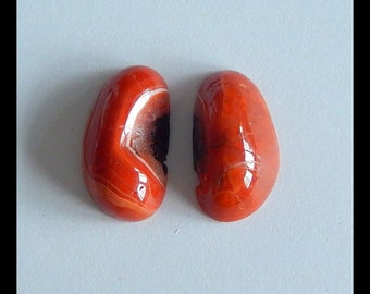 Can Drilling  Hole 44x44x11mm,23.3g MS318 Sale Carved Warring States Red Agate Gemstone Lion Head Cabochon,