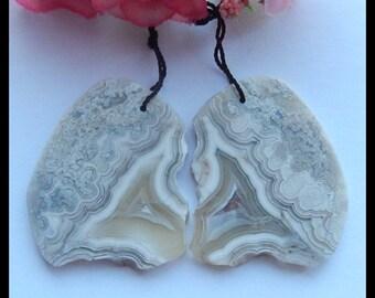 33x12x5mm,4.9g-Y4847 Semiprecious Crazy Lace Rosetta Stone Gemstone Earrings,Agate Earring Gift