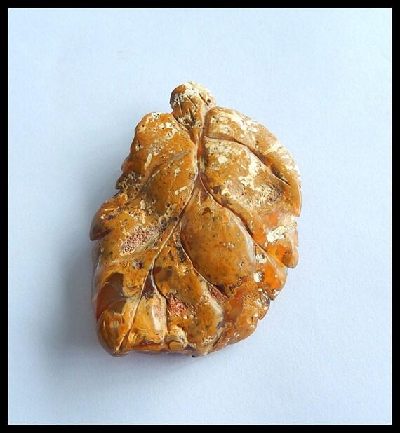 Brillant de qualité en supérieure sculpté Cabochon en qualité pierre Agate Rouge, 66x47x14mm, 28,1 g-Cp1182 a39240