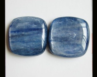 Blue Kyanite Cabochon Pair,18x5mm,7.94g