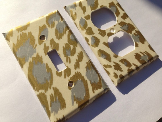 Gold Silver Leopard Light Switch Plate Cover Gold Home Decor Etsy