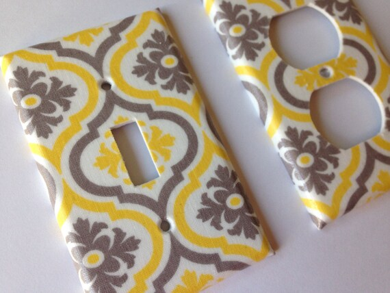 Brilliant Yellow Gray Moroccan Quatrefoil Single Light Switch Cover Yellow Home Decor Yellow Bathroom Decor Grey Yellow Decor Yellow Nursery Download Free Architecture Designs Meptaeticmadebymaigaardcom