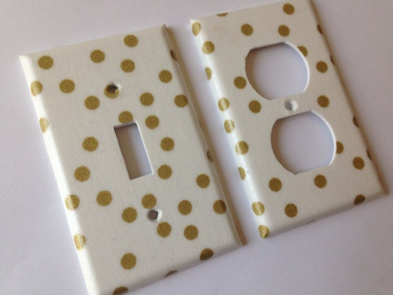 Gold Light Switch Cover Outlets / Gold Home Decor / White Gold Bedroom  Decor / Gold Nursery Decor / Gold Decor / Metallic Gold Decor