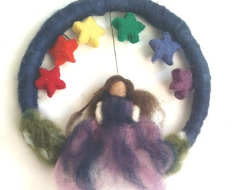 Rainbow Fairy - Large Wreath/ Wall hanging