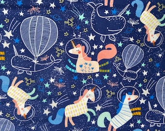 KNIT Unicorns in Space ~ Knit Collection by Dear Stella Designs 955/% CottonSpandex