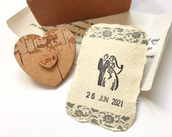 Sentimental Wood Anniversary gift, Personalized 5 years marriage gift for husband, wife. Sustainable LOVE YOU gift for groom or for bride