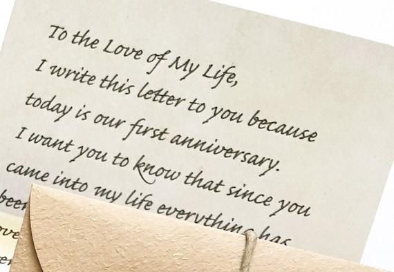 Image result for anniversary  letter