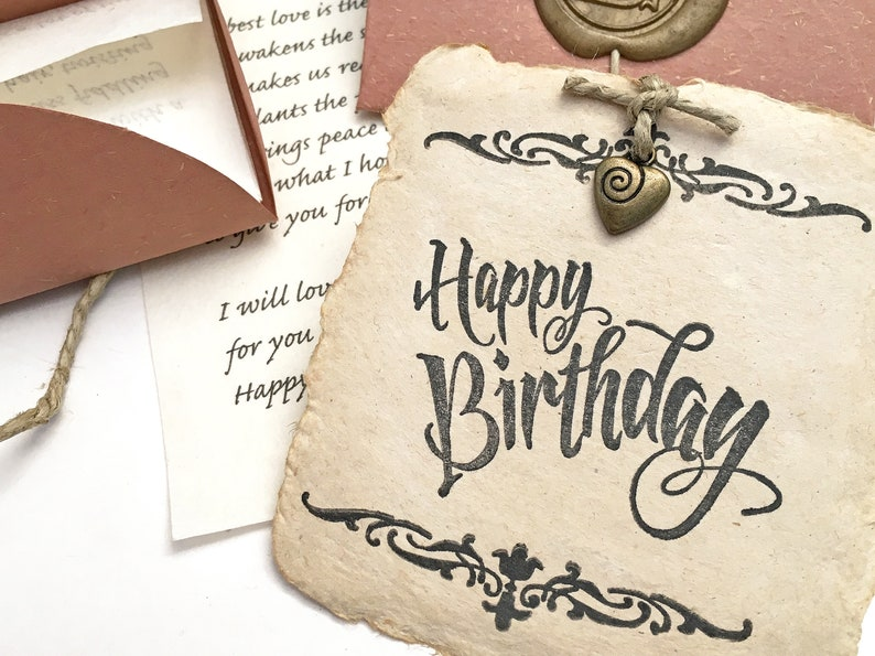 Meaningful Birthday Gift Romantic For Husband Or Wife Personalized Letter Handmade Paper Card Unusual Present