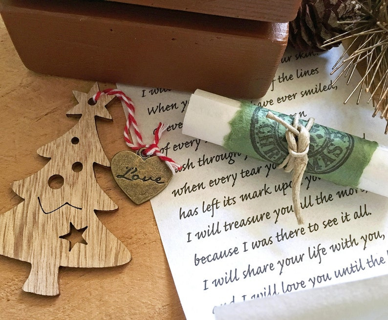 Original Long distance gift, Meaningful holiday present for him or her,  Surprising Christmas gift for your lover, Personalized love letter