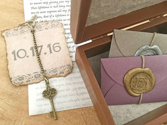 Wood Anniversary Gift Idea Wedding Vow Keepsake Personalized Etsy
