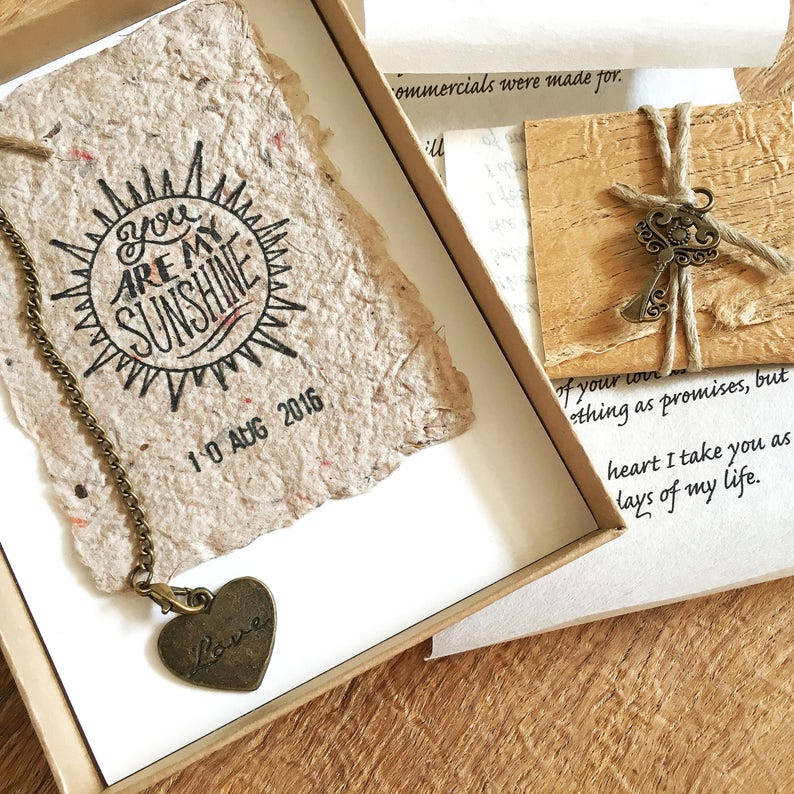 Long distance relationship gift for man, Valentines gift for boyfriend,  Personalized dating anniversary gift, OOAK card your love letter