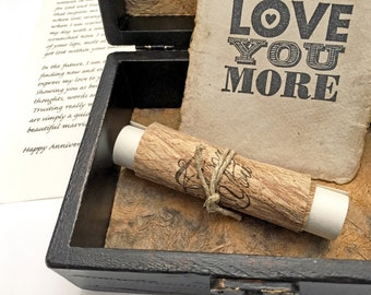 Meaningful birthday gift for men, Unforgettable gift for someone special, Personalized letter & Sustainable card, Sentimental present
