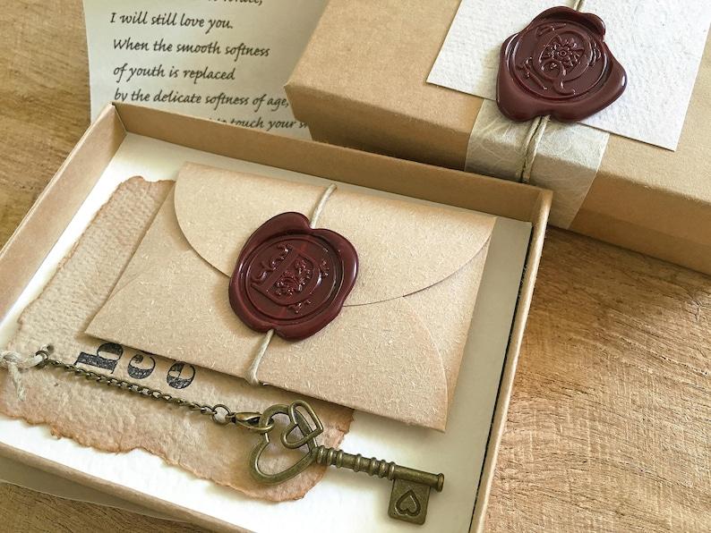Insolite 2ème Anniversaire Cadeau Pour Les Hommes 2 Ans Anniversaire De Mariage Cadeau Pour Les Femmes Votre Carte Unique Key To My Heart Lettre