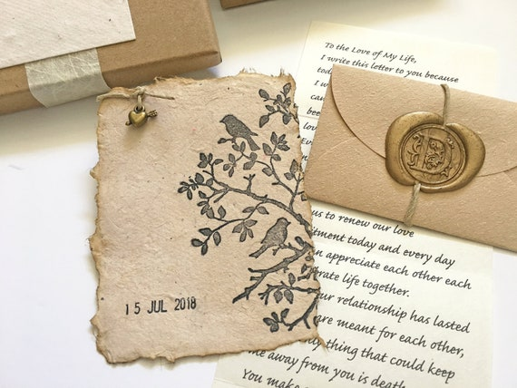Meaningful Engagement gift, Personalized Long distance gift box, Eco  friendly present, romantic gift, your love letter, Handmade paper card