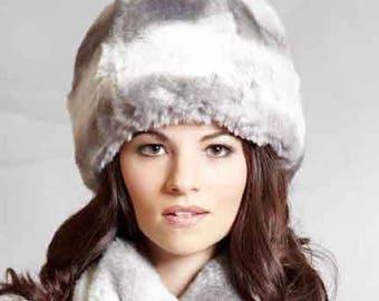 Tissavel Faux Fur Cloche in Light Chinchilla