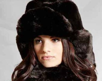 Tissavel Faux Fur Trapper in Sable