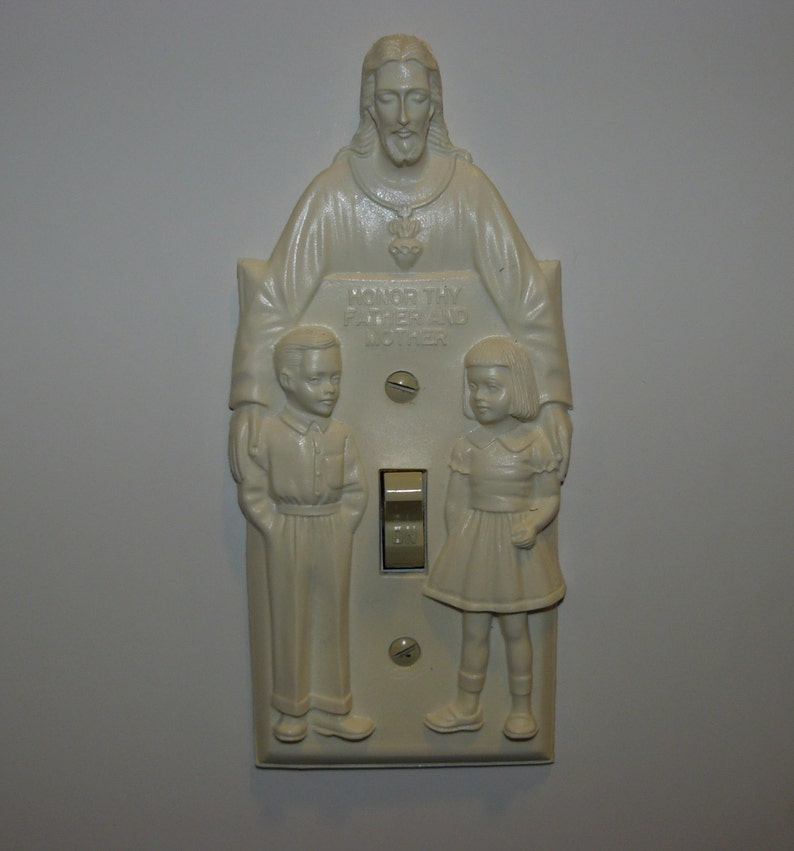 Reproduction Vintage Turn On Jesus Light Switch Plate Cover Etsy