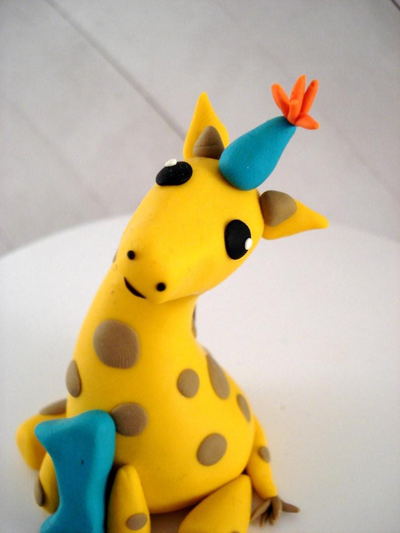 Giraffe Birthday Cake Topper Boys Circus Party