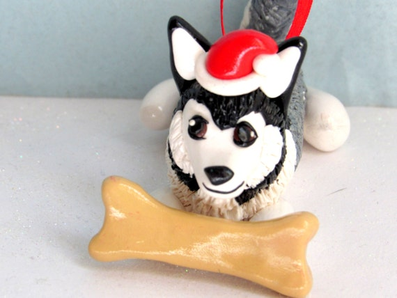 image 0 - Husky Christmas Decoration