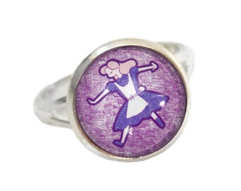 Alice Ring - Wonderland Gift - Alice in Wonderland - Adjustable Ring