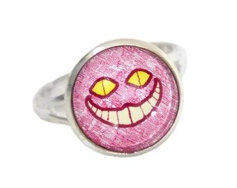 Cat Ring - Cheshire Cat Jewelry - Alice in Wonderland - Adjustable Ring
