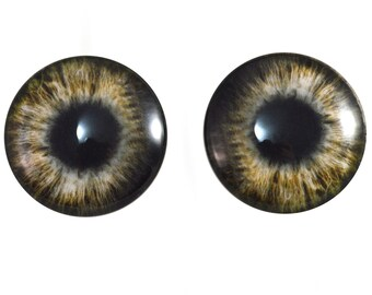 Sculptures 10mm All Black Zombie Human Glass Eyes for Jewelry Making Art Dolls