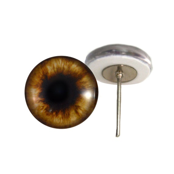 25mm Dark Brown Bear Glass Eyes for Sculptures Jewelry Making or Taxidermy Art