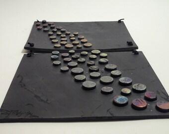 Metallic Dots - 2-piece wall hanging