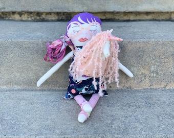 Unicorn keeper doll with baby unicorn