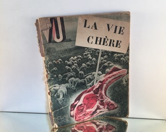VU Magazine 1932, Nurses's Gift Advert, Antique adverts, Political Journal, Life and times of 1930s, Antique wall poster, French Farming