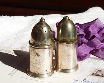 SALE 50% OFF Lovely Vintage Maple & Co Lind London Silver Plate Salt and Pepper Shakers. Table Decor. TPT Team