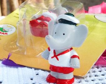 Figurine en caoutchouc Vintage - 1991 - Babar - jouet - collection - décoration - printemps trouve - Français jouet - jouet Vintage - Spt Team